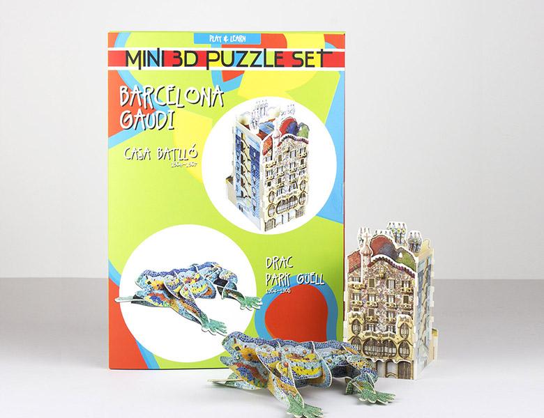 Set de 2 puzzles 3D – Dragon / Batllo