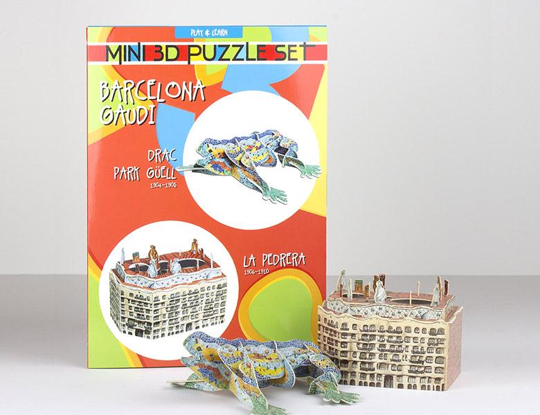 Set de 2 puzzles 3D-Drac / Pedrera