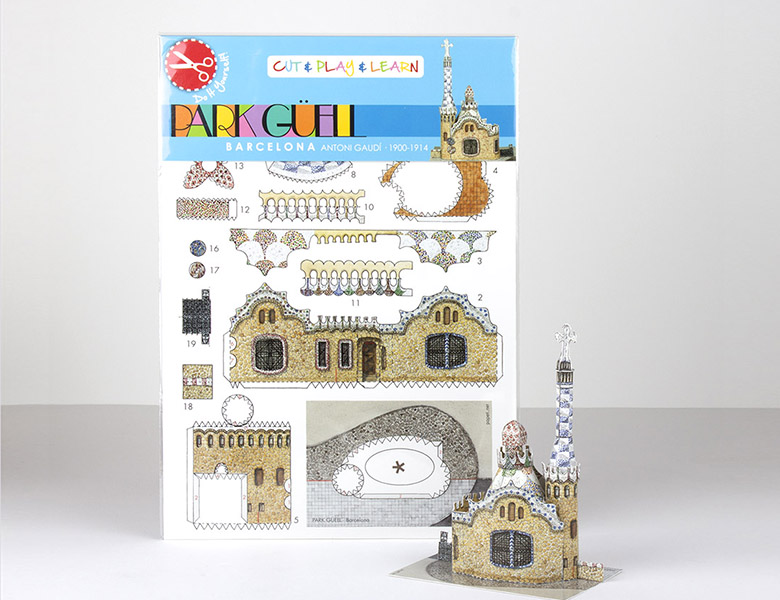 Recortable Mini Cut Kit Pavello Park Guell