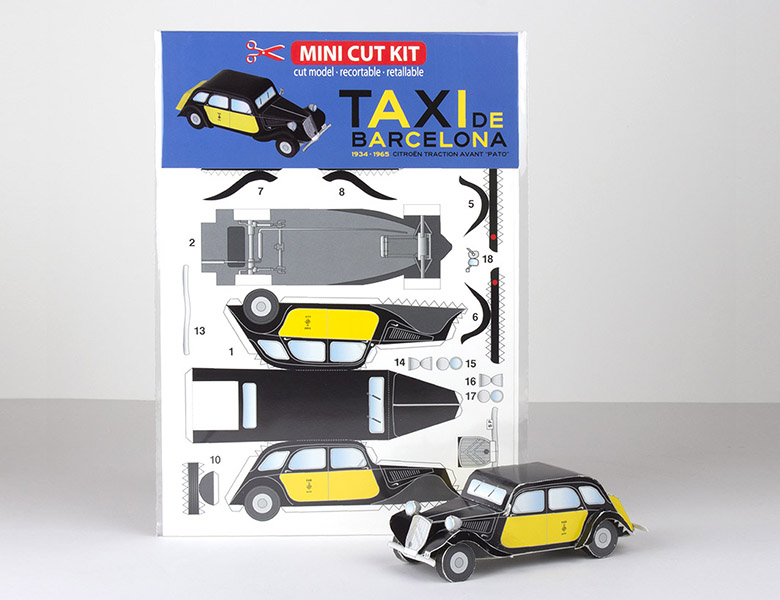 Recortable Mini Cut Kit Taxi Barcelona