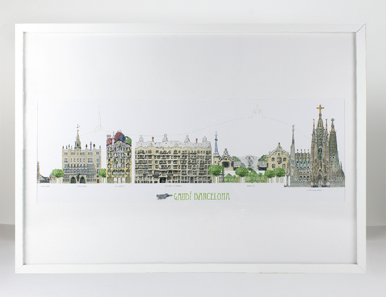Cartel Panorámico Gaudí