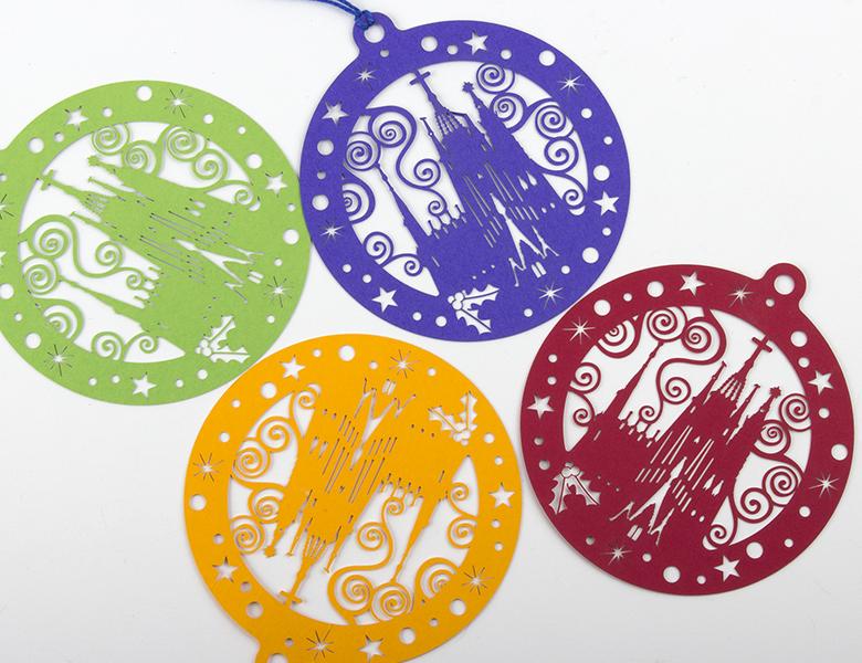 Postal Làser (decoració nadalenca de paper)