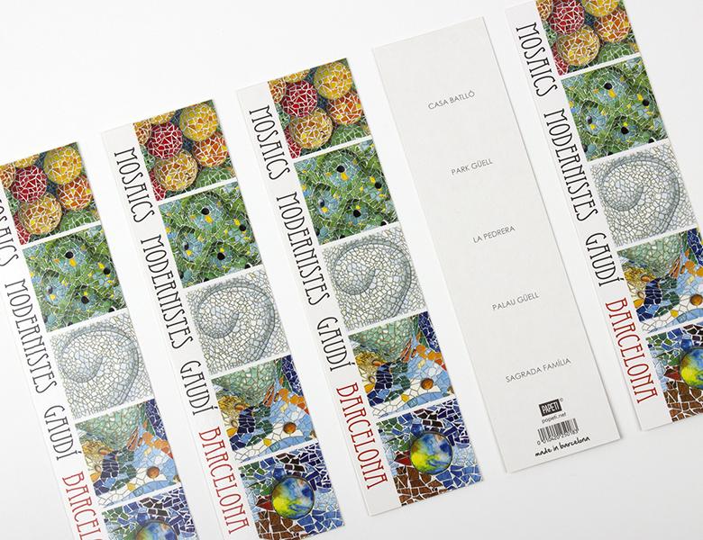 Marcapáginas Mosaicos Gaudí