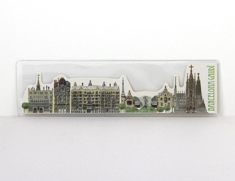 Marcapáginas Panorámico Gaudí Barcelona