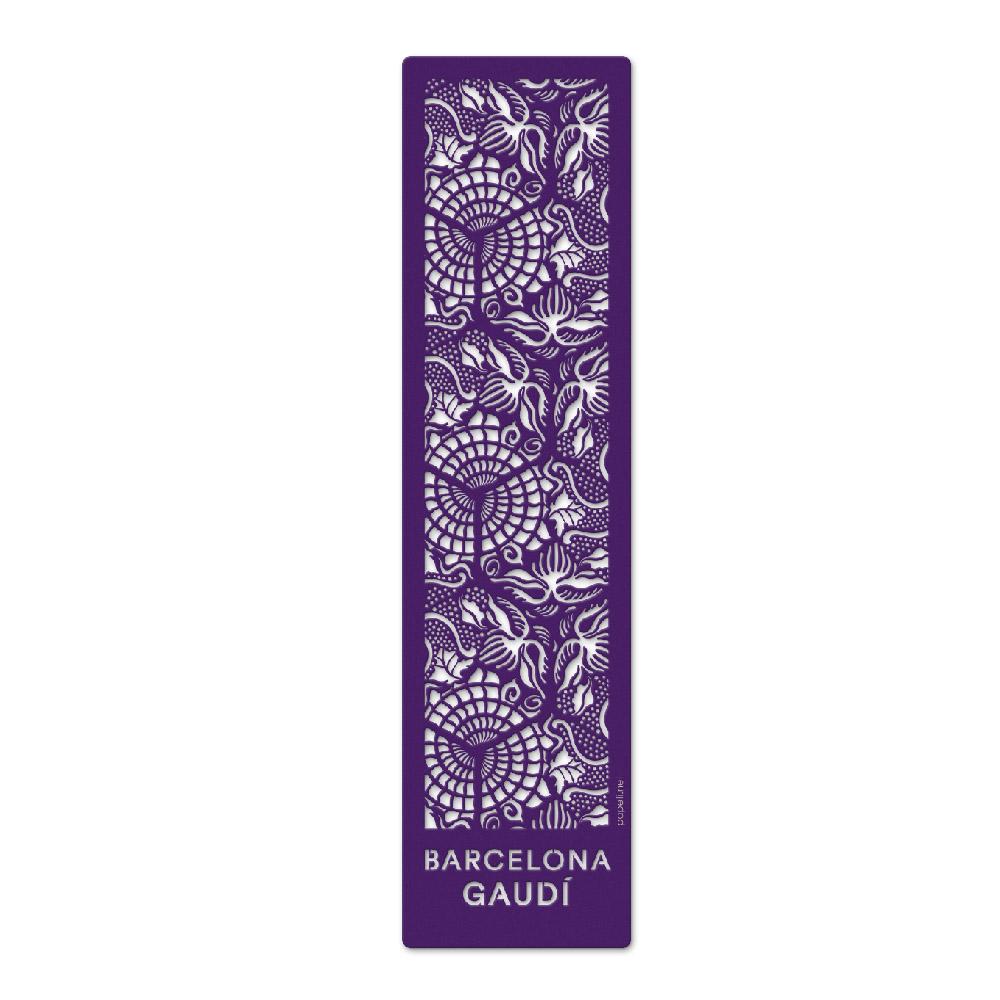 Marcapáginas Baldosas Gaudí Gris / Violeta
