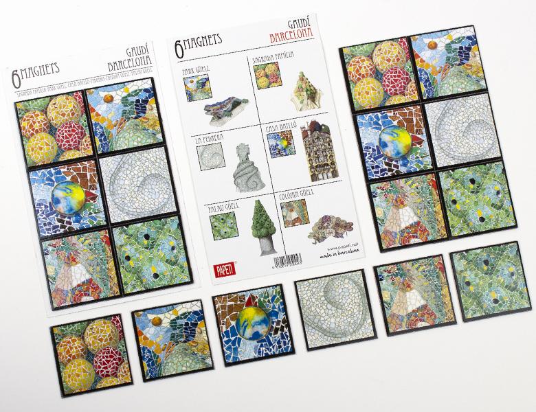 Set de 6 imanes Mosaicos Gaudí