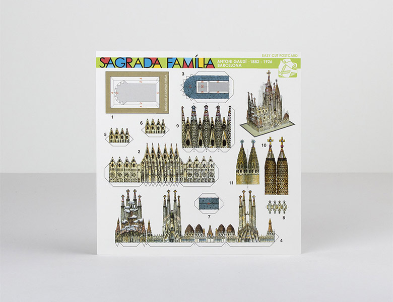Postal recortable Sagrada Familia
