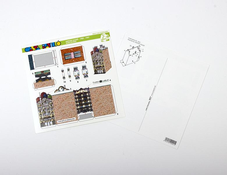 Postal recortable Casa Batlló