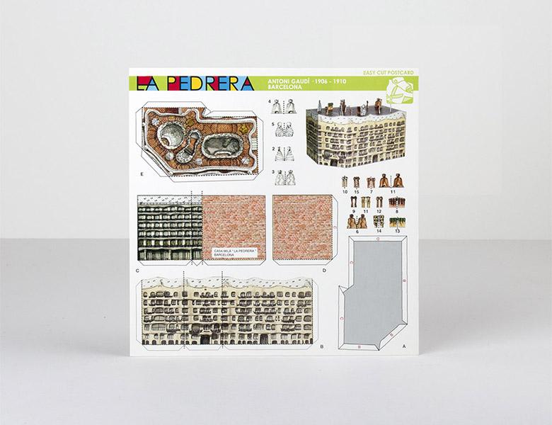 Postal recortable Pedrera