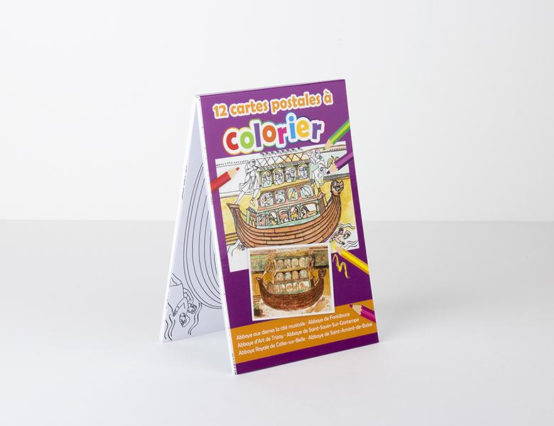 Bloc de postales para colorear