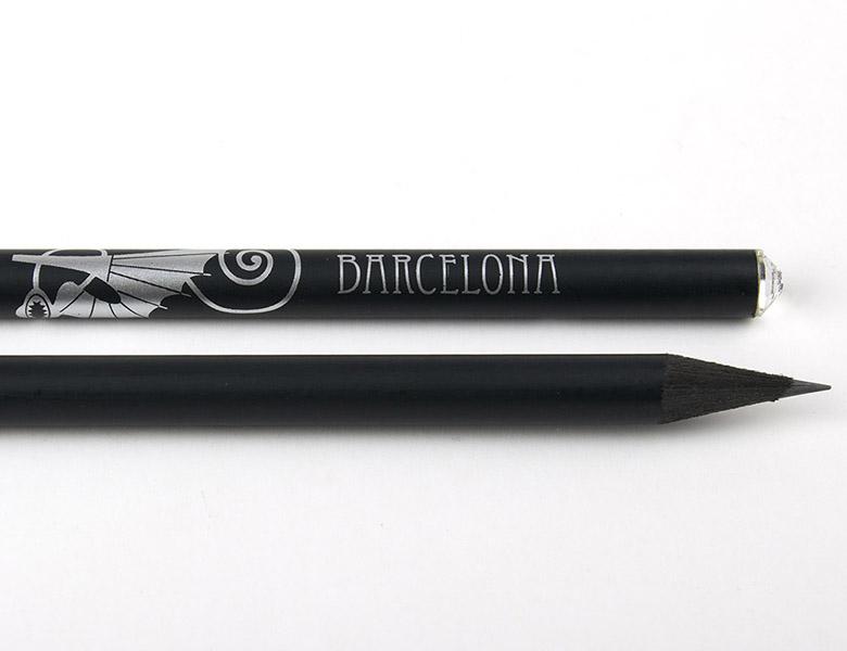 Pencil with crystal Gaudi Salamander