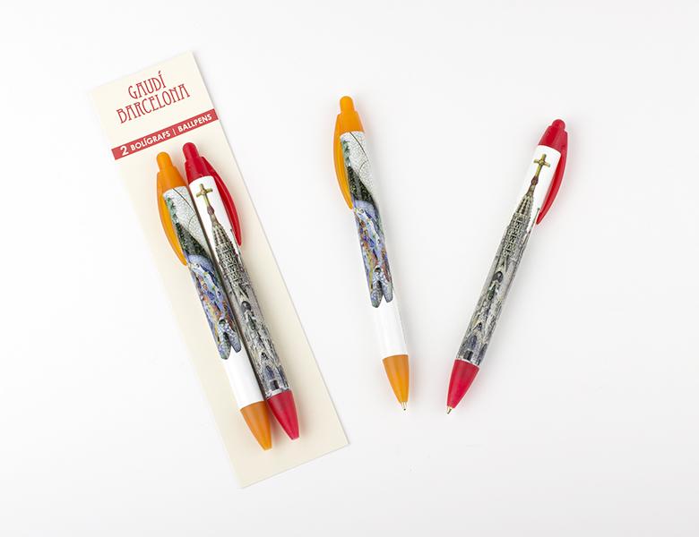Set de 2 bolígrafos XL Dragón / Sagrada Familia