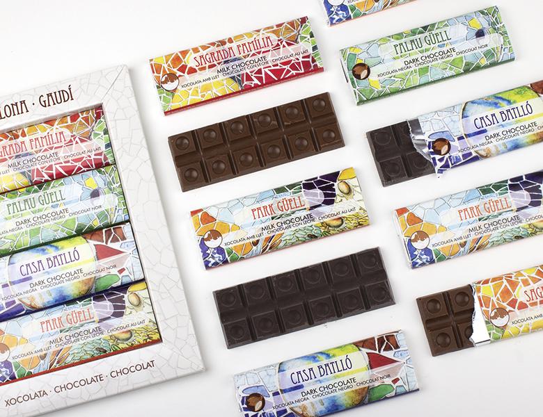Caja 4 Chocolates Mosaico Gaudí