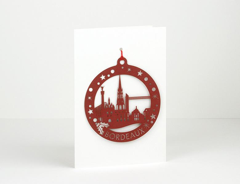 Postal Láser (decoración navideña de papel)