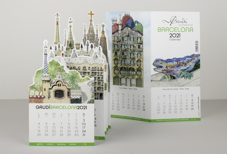 Calendrier Stand-up Gaudí 2021