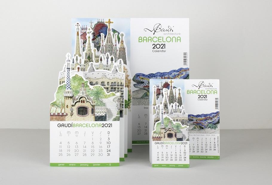 Calendario Stand-up Gaudí 2021