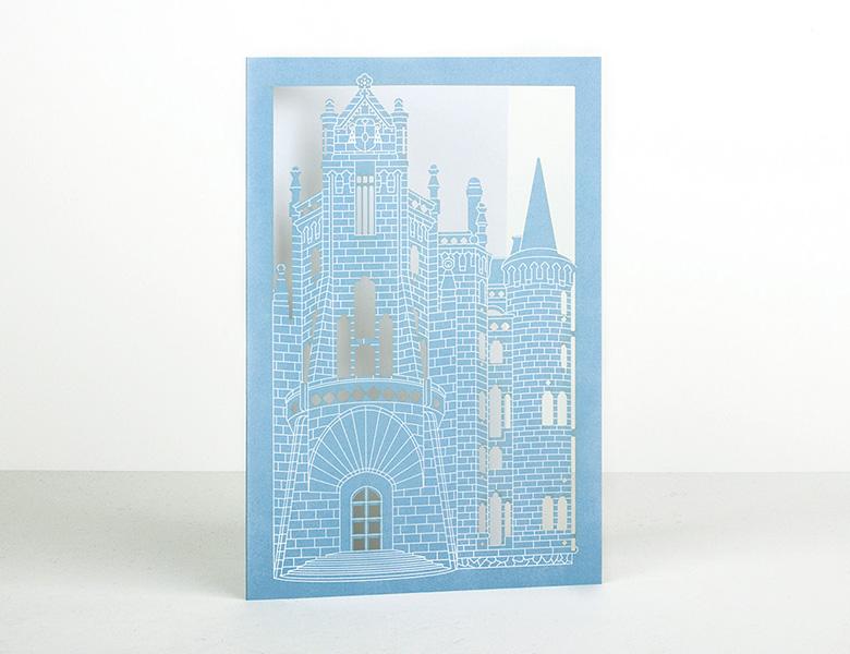 Carte postale en découpe laser