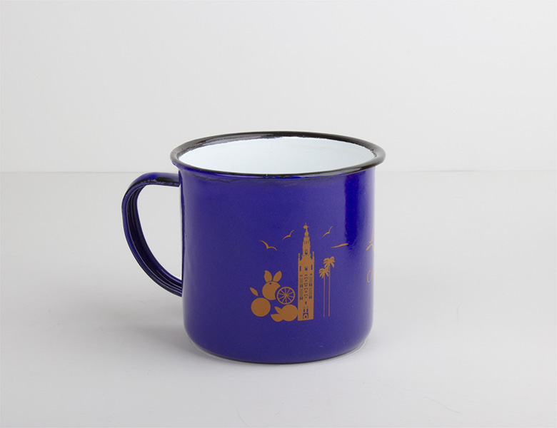 Taza-mug metal vintage